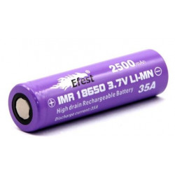 Batterie Efest purple 18650 35A 2500mah
