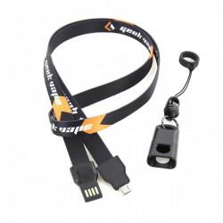 Tour de Cou Micro USB Geek...