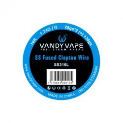 Fused Clapton SS316L 28ga*2+30ga Vandy Vape